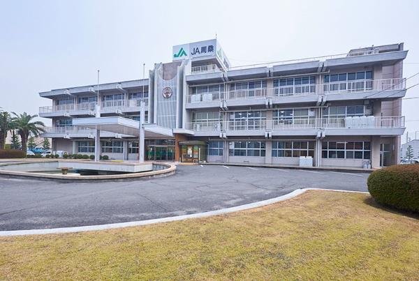 JR予讃線壬生川駅からクルマで10分ほどの場所にあるJA周桑(写真:吉澤咲子)