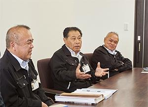 写真左からTACに任命された星原氏、藤本氏、久保田氏