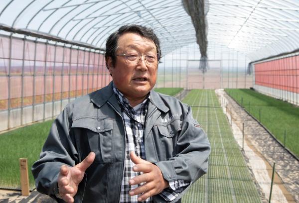 園芸メガ団地への参加経緯を語る轟ネオファーム代表理事の高橋裕氏