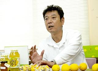 レモンの生産拡大の経緯について語るJA広島ゆたかの山根和貴氏