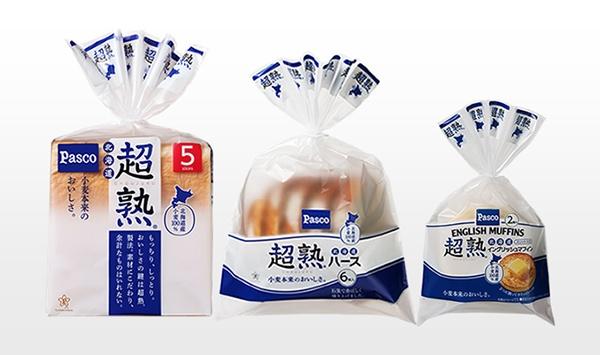 現在、札幌近郊のスーパーマーケットで発売中の「北海道限定販売の超熟北海道シリーズ」(いずれも北海道産小麦100%使用)