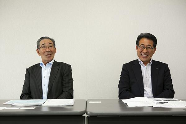 「ゆめちから」への取り組みと未来への展望を話してくれたJA道央の松尾氏と岩田氏