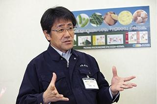 衛星画像の活用について話すJAめむろ 農業振興センター長の長濱氏