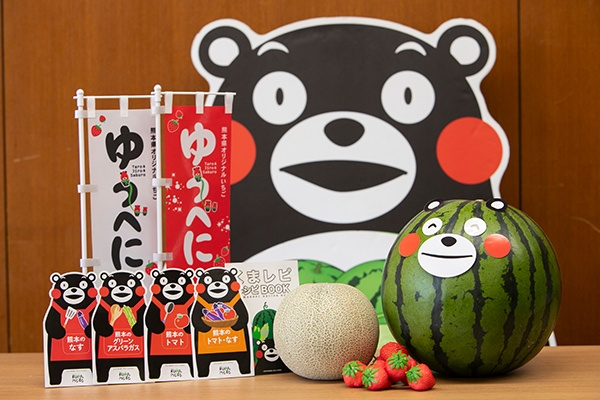 JA熊本経済連が扱う果物は、スイカやメロン、イチゴなどの畑で実る果物だ