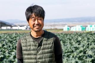 ブロッコリー専業農家の 平林明人 氏