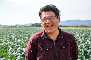 ブロッコリー専業農家の 谷﨑直登 氏