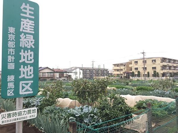 練馬区内にある生産緑地