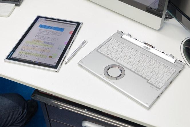 今回取材で活用したのはレッツノートXZ6の2017年夏モデル。タッチペンが標準装備になり、手書きがますます身近になった。