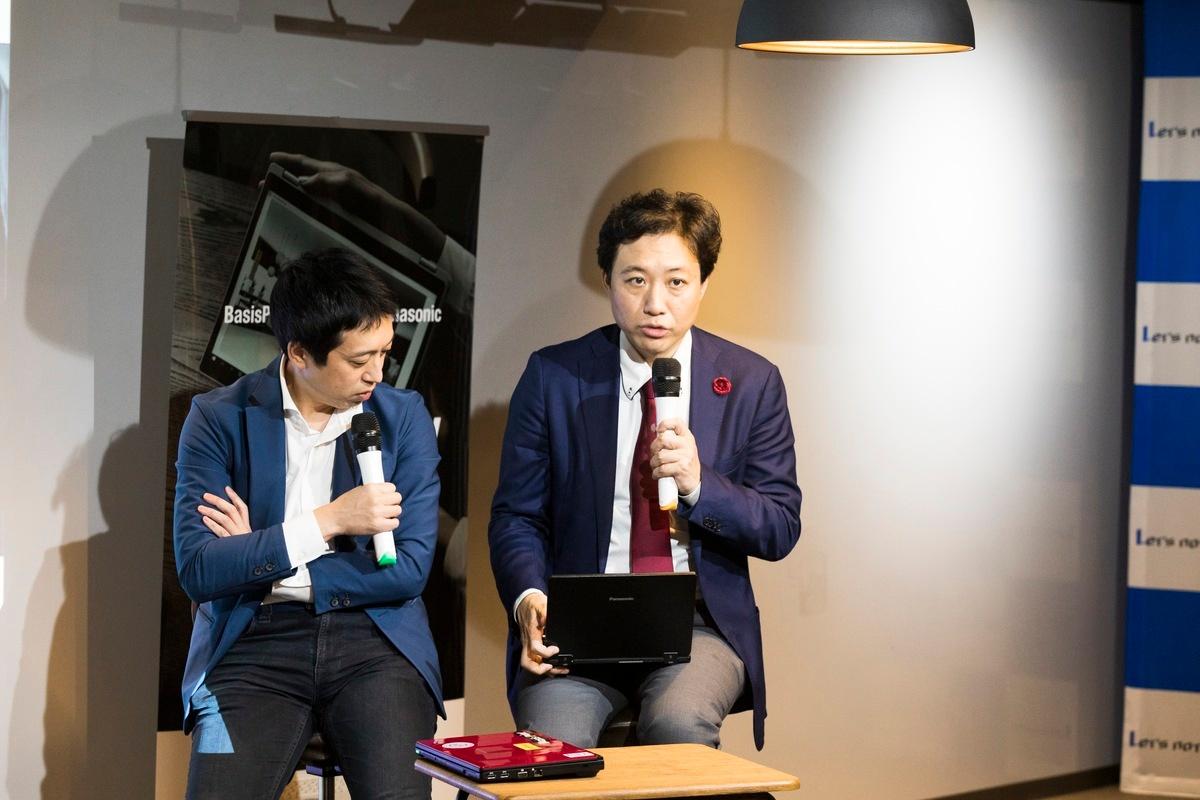 レッツノートへの熱い想いを語る前田氏。
