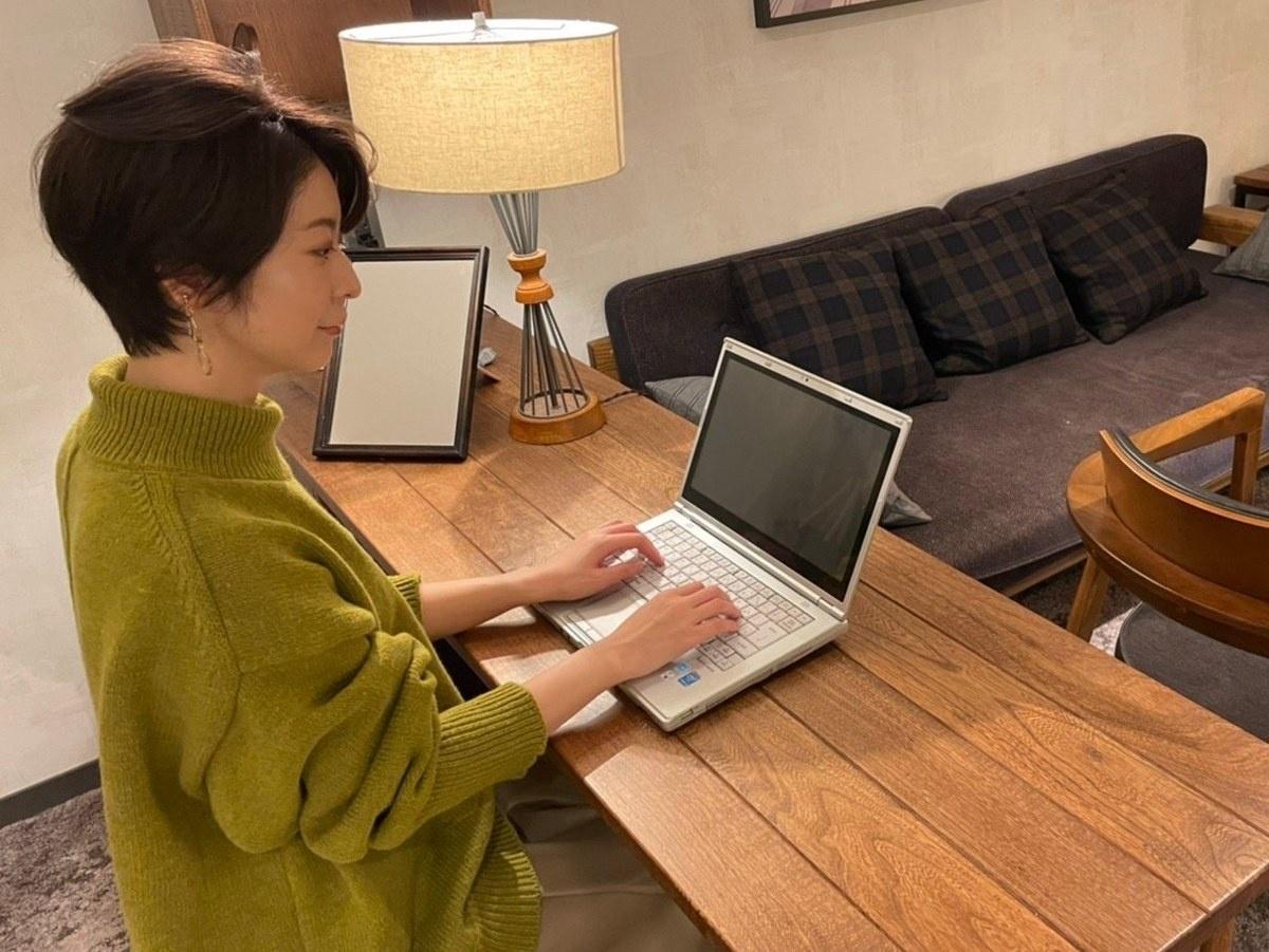 廣松さんが感動したのは、レッツノートのタイピングのしやすさだった。